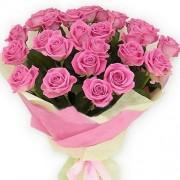 Букет из 21 розовых роз