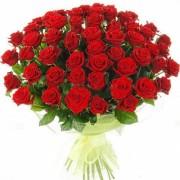 Букет из 51алой розы