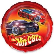 Машина гоночная фольгированная круглая 45 см