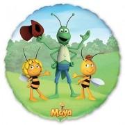 Пчелка майя с друзьями фольгированная круглая 45 см