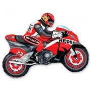 """Фигура """"Мотоциклист красный"""" фольгированный 80 см"""