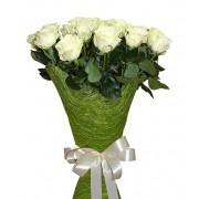 Букет из 15 высоких  белых роз