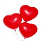 Сердце красное с гелием 25 см